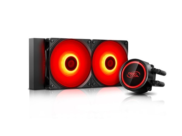 DeepCool водно охлаждане Water Cooling - GAMMAXX L240T RED